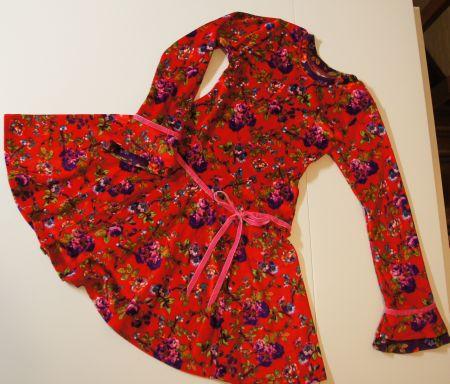 twee deel jurk rood